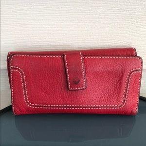 MICHAEL Michael Kors Bags - Michael Kors red leather wallet silver bag purse